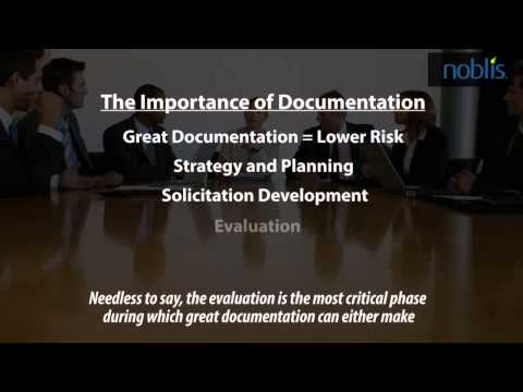 Noblis Acquisition Excellence -The Importance of Documentation