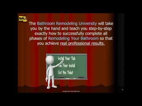 Bathroom Remodeling University   Bathroom Remodeling Videos