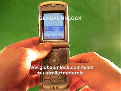 How To Unlock your Telstra Australia Motorola