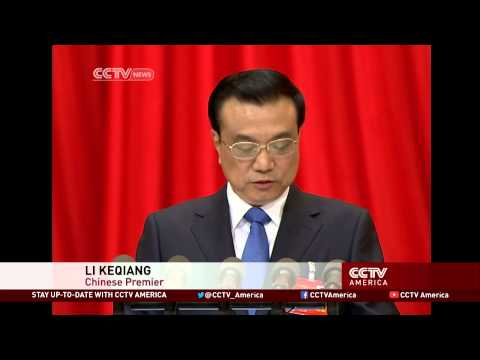 Chinese Premier Li Keqiang Delivers 2013 Work Report
