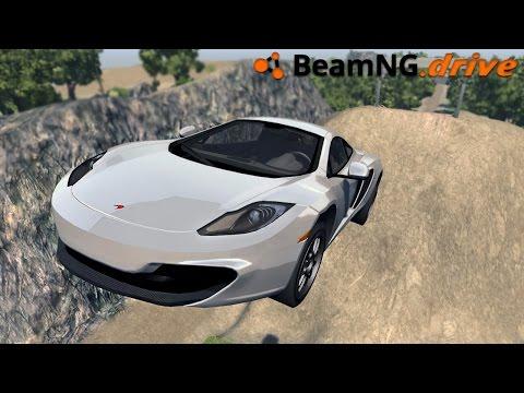 BeamNG.drive - MCLAREN CRASH TEST