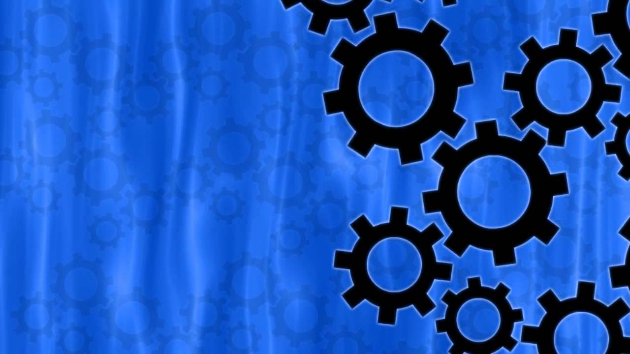 Blue Gear Gears Background Blue