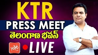 KTR Press Meet LIVE | KTR Counter to Rahul Gandhi | Telangana Congress  | TRS Bhavan