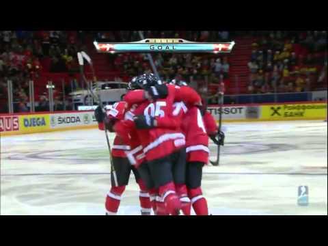 Все голы ШВЕЦИЯ  ШВЕЙЦАРИЯ 2 - 3 Чемпионат Мира по хоккею - 2013