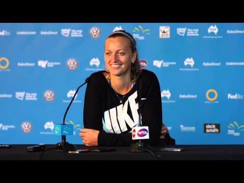 Petra Kvitova press conference (preview) - Apia International Sydney 2015