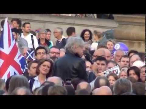 Bob Geldof speaks at Let's Stay Together Rally