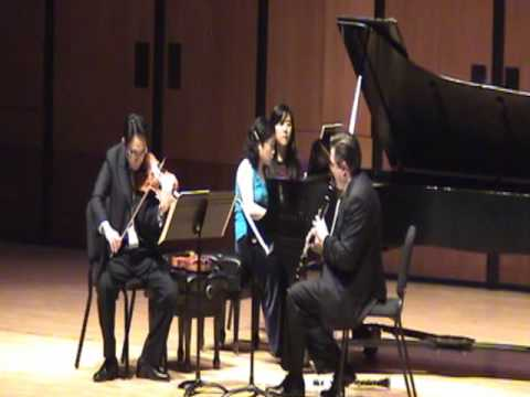Bela Bartok: Contrasts, Mvt. 3, Live at University of Houston Moores School of Music (Trio Solari)