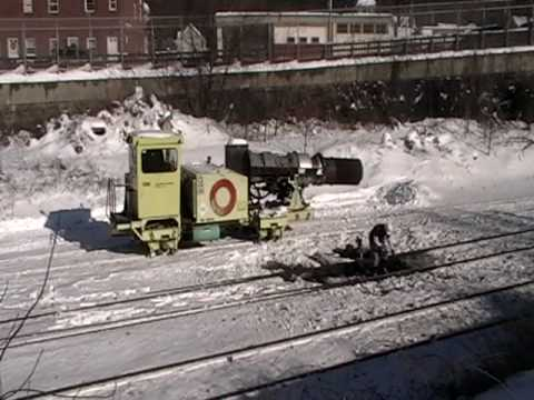 Rare find CSX jet engine clearing snow Pt 3