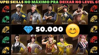 GASTEI 50 MIL DIAMANTES UPANDO PERSONAGENS NO FREE FIRE