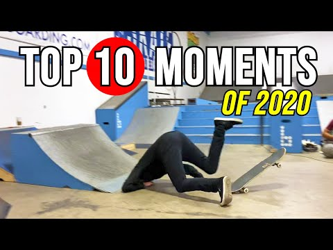 AARON KYRO'S FACEPLANT, SKATING WITH JAWS & MORE | Top 10 Moments Of 2020