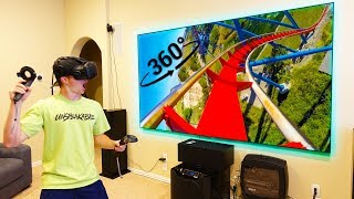 PLAYING VIRTUAL REALITY ON 120INCH PROJECTOR!
