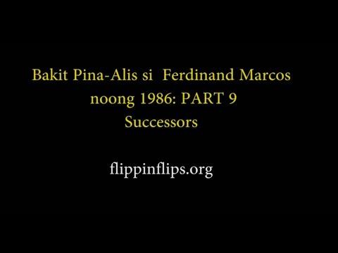 PART NINE: Bakit Pinaalis si Marcos nung 1986