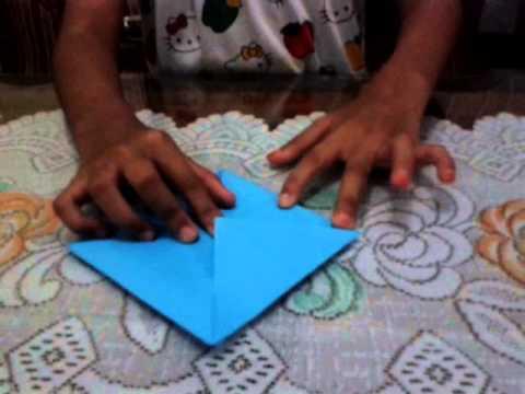 cara buat mulut pakai origami