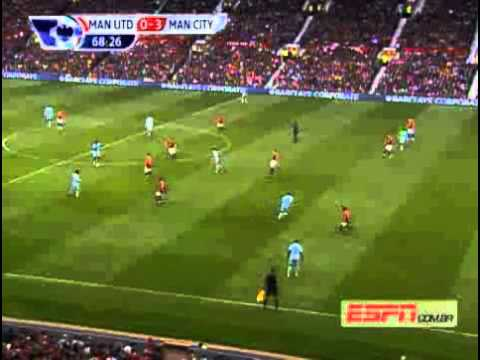 Campeonato Inglês 11/12 - Manchester United 1x6 Manchester City