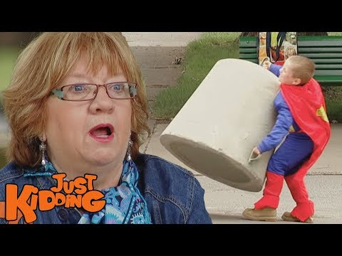 Superhero Strength Squirt - Just For Laughs Gag video