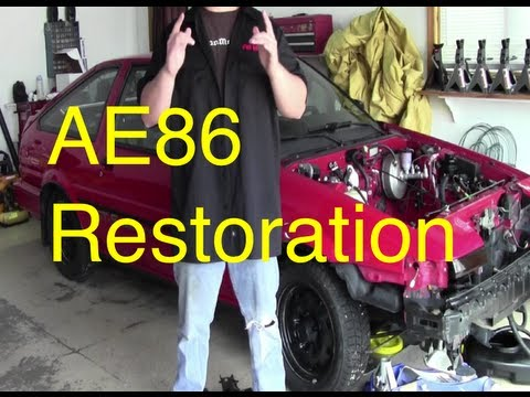 Eps 5. AE86 Restoration Project Day 1 pt 1