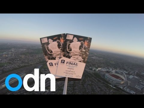 FA Cup final tickets blasted into space and back to earth again!