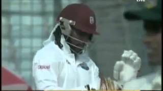 Chris Gayle Hits a Six Off The First Ball of A Test Match
