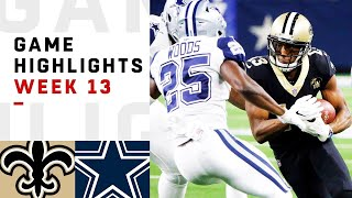 Saints vs. Cowboys Week 13 Highlights | NFL 2018