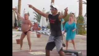 Fat guy can dance. Vacation Step Aerobics Workout