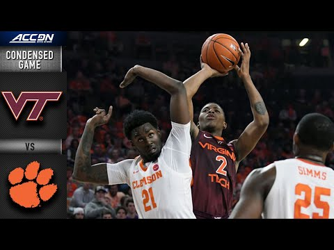 Virginia Tech vs. Clemson Condensed Game | ACC Basketball 2019-20