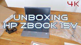 HP ZBook 15V G5 Unboxing 4K (UHD)