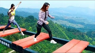 Scary Glass bridge in china | Try Not To Laugh | Comedy Video | Part 3