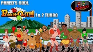 Phred's Cool Punch-Out!! 1 & 2 Turbo Edition (NES Hacks) - Complete