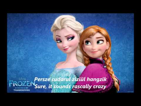 Frozen - For The First Time In Forever (Hungarian with Lyrics+Translation)