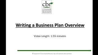 Writing a Business Plan Overview