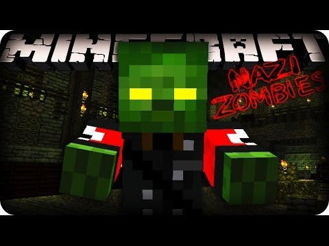 Minecraft Zombies (Black Ops Zombies) - A NEW MAP! w/CraftBattleDuty & MrWoofless!