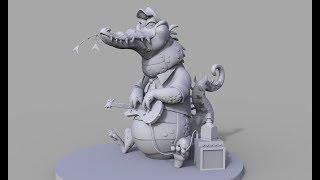 Zbrush speedsculpt cartoon сrocodile