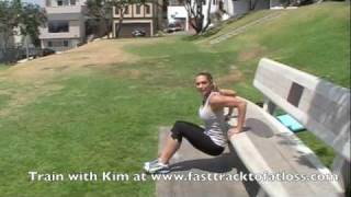 Dips by trainer Kim Lyons