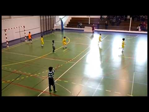 13/14 Golos Juniores E - 1�Jornada 2�Fase Camp. Distrital - At. Cac�m (1) x SCP (12)