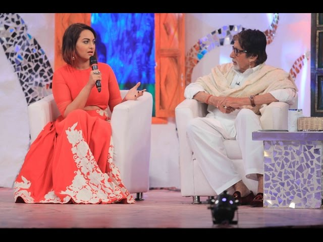 Amitabh And Sonakshi For Ndtv Mission Swachh Bharat Abhiyaan