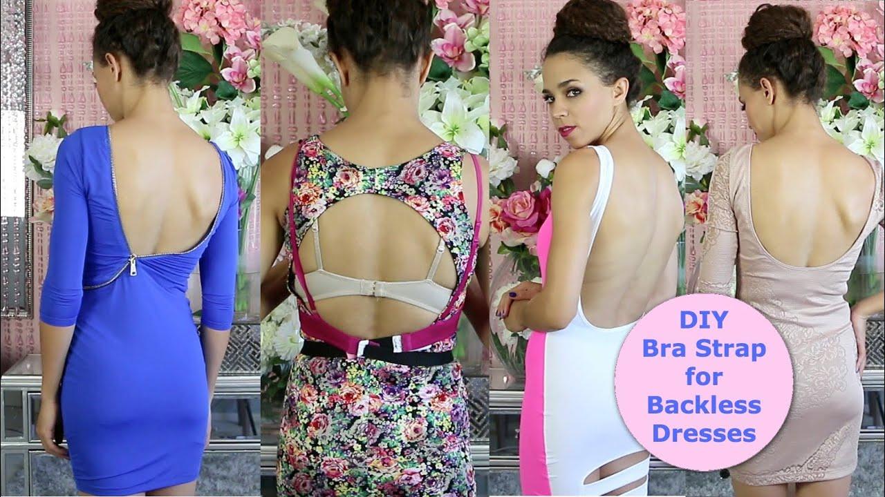 Diy bra strap extension for backless tops amp dresses youtube