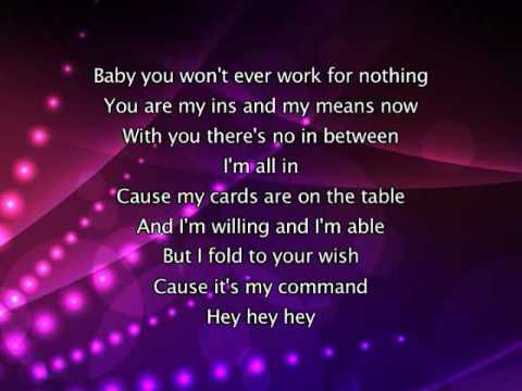 Justin Bieber - U Smile, Lyrics In Video