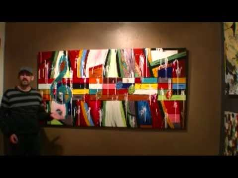 CREATING LARGE ABSTRACT ARTWORK Learn To Paint Acrylic Artworks 20 Art Lesson