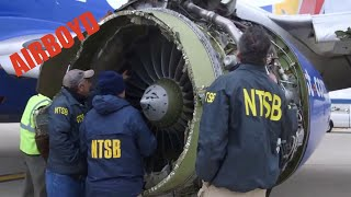 Southwest Airlines Flight 1380 Engine Video - NTSB