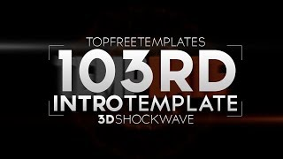 FREE Intro Template: 3D Shockwave #103 w/ Tutorial