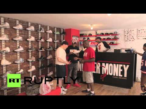 USA: Shoe junkies flock to Sneaker Pawn store