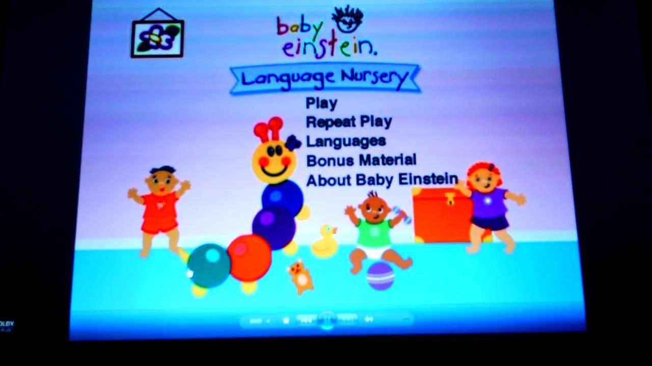 Baby Einstein Baby Noah Dvd Menu baby einstein- Language