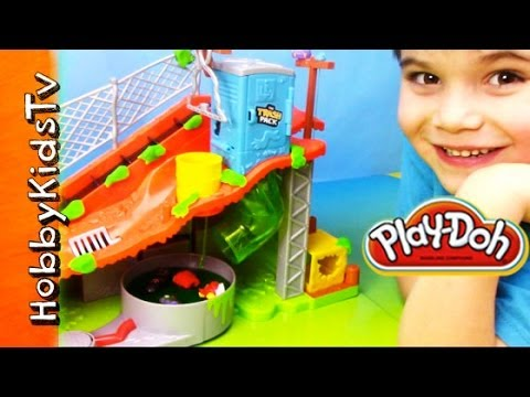 Trash Pack Sewer Dump PLAY DOH - Toy Review. PlaySet - Batman. Cars. Angry Birds. Star Wars