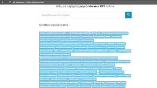PobierzMP3.pl - wyszukiwarka mp3, download mp3, pobierz mp3, mp3 download