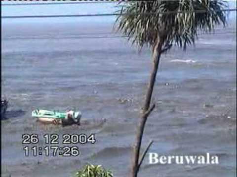 Tsunami 2004 Beruwela Amateuraufnahmne