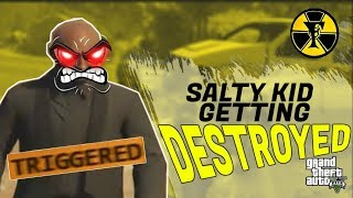 SALTY KID GETTING DESTROYED | Grand Theft Auto V | TAGALOG
