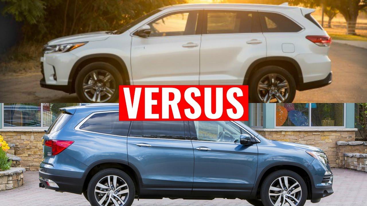 2016 Pilot VS Toyota Highlander    Visual Comparison - YouTube