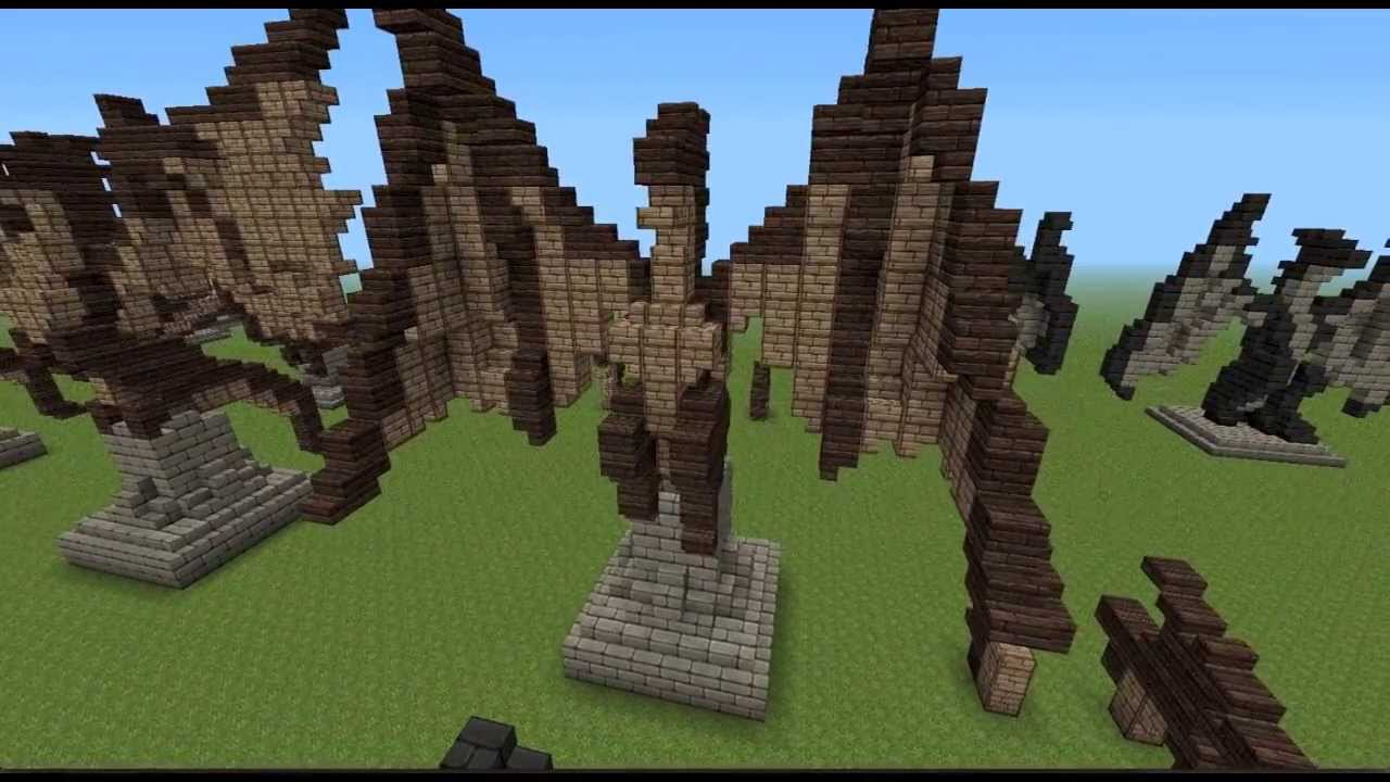 Minecraft Dragon Statues Youtube