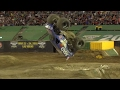 Monster truck pulls off first ever successful front-flip trick – video