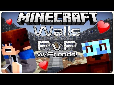 Minecraft Mini-Games: Walls PVP w/Friends! ( Hypixel